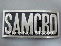 "Sons of Anarchy SAMCRO {LETTER-BUCKLE} Biker Road-Gear ""SOA"" Metal Belt Buckle"