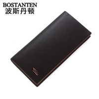 BOSTANTEN MEN'S New arrival business casual cowhide wallet male wallet long design wallet b30081