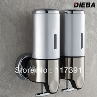 Luxury manual soap dispenser double slider soap dispenser stainless steel panel soap dispenser emulsion free shipping