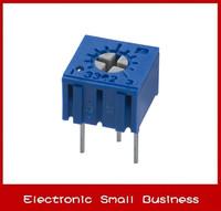 100pcs/1lot    3362P-1-102LF 3362P 1K Trimpot Trimmer Potentiometer  Free Shipping