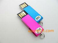 Promotional Gift Mini USB Flash Drive Real 2GB 4GB 8GB 16GB 32GB Mini Rotatable USB pen drive Gift Keychain USB Free Shipping