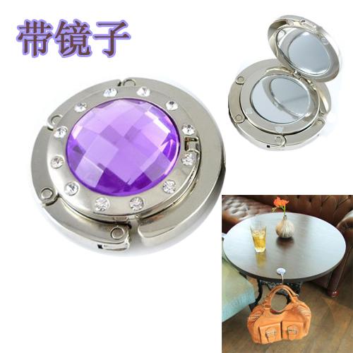 Gift bag accessory ,arcylic mirror foldable purse hangers,bag hooks RA100,20PCS/LOT ,(China (Mainland))