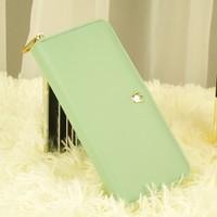Long design women's mobile phone wallet women's zipper small fresh wallet female wallet
