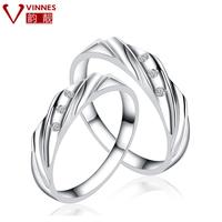 Wedding Ring! 925 pure silver ring Women lovers wedding ring male fashion christmas gift -jhdj