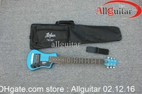 Travel guitar Bright blue Hofner Travel Electric Guitar With Big Bag