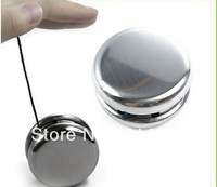 Fashion Round Stainless Steel Silver yoyo Toy for Kids