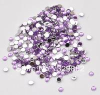 4MM Flatback Acrylic Rhinestone Buttons Alexand Purple Color -10,000 PCS
