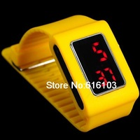 Square Simple Fashion Digital LED Watch Yellow