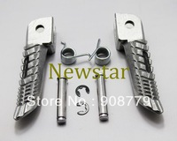 Free Shipping Brand New Front Foot Pegs Footrest For Suzuki GSXR 600/750 2008 2009 2010 2011 Silver Guaranteed 100%