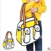 Free shipping 2013 New Arrived  hot selling 3D women's canvas  handbags fashion handbags  Shoulder bags C03