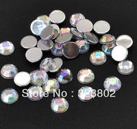 6MM Flatback Acrylic Rhinestone White AB Color -About 2500 PCS