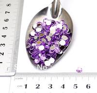 5MM Flatback Acrylic Rhinestone Buttons Beads Violet Purple Color -About 10000 PCS