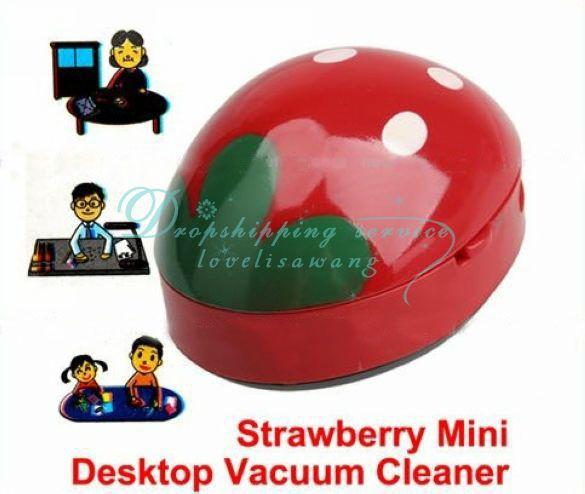 Wholesale Cute Red Strawberry Mini Desktop Cleaner Desk Dust Desktop Cleaner Vacuum(China (Mainland))