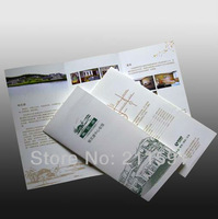 Brochure Printing, Color Brochure Printing, Folded Twice, 128gsm/157gsm/200gsm Gloss Art Paper, Full Color, High Quality