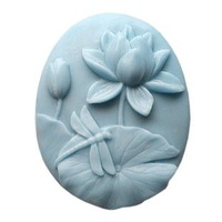 free shipping 1pcs Lotus and dragonfly shape candle Muffin case Candy Jelly Ice cake soap Chocolate Silicone Mould 50074
