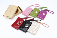 Wholesale High quality  Michael Zipper  wallet Real leather case for  5 G 4G 4S free shipping pcs/lot