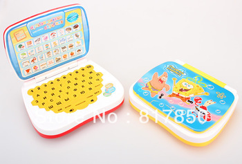 Best selling!! Spongebob Russian Language Learning Machine Children's laptop computer Table Farm Funny Toy For Kid's 1 pcs