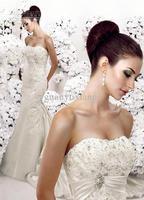 Attractive Appliqued Bridal Dress Off Shoulder Taffeta Wedding Dress