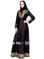 Promotion!! Wholesale/retail Hot sale Islamic embroidery women's abaya Series /Jilbab/arabic cloth Free shipping