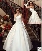 113 Free shipping 2013 newest women beautiful chic strapless sweetheart simple satin bow lace up draped  fashion wedding dresses