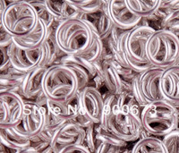 Free Shipping 2000pc/lot Split Ring silver  plated iron Open Jump Rings 6mm ,Jewelry Findings S195