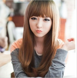Free shipping fleeciness grows female fashion wig