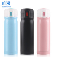 free shipping,double layer stainless steel vacuum cup male women's child water bottle Vacuum Flasks & Thermoses