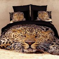 Home textile bedding leopard print 100% cotton four pieces per set bedding set