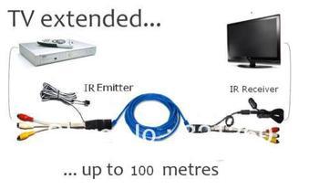 AV Video Audio Extender IR Infrared Repeater Sender Network Cable Set Top Box