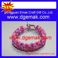 2013 new design OEM fashion accessory braided 550 paracord survival bangle bracelet promotional