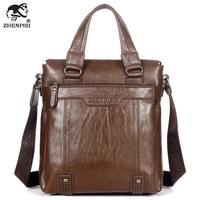 Leather man bag commercial shoulder bag male messenger bag casual bag briefcase male backpack