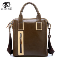 Leather man bag business bag male handbag casual shoulder bag laptop bag briefcase leather bag