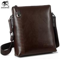 Leather male shoulder bag backpack commercial casual bag cutout man bag
