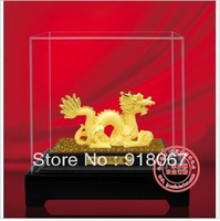 YZ-R013 Free shipping gold craft/24K gold craft/art gift/ cute chinese  24K gold plated dragon figurine