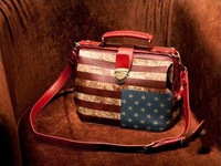 Vintage flag leather women handbags,2013 new casual ladies cute messenger shoulder bag free shipping women fur