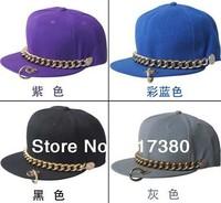 2014 NEW Mix Colors Fashion Flat Bill Hats Snap back Hat Baseball Caps Men Snapbacks Mens Visor Chain Flat Peak Cap Women Sport