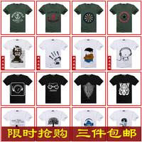 2013 print male fashion male short-sleeve T-shirt men's clothing fashionable casual