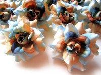 24 Sea Ocean Pink Roses Heads Artificial Silk Flower