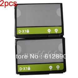 2pcs 1380MAH Replacement D-X1 DX1 Battery for Blackberry 8900 9500 9520 9530 9550 9630 9650 Free Shipping(China (Mainland))
