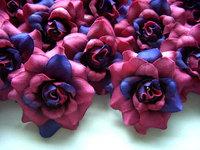 24 WineRoses Heads Artificial Silk Flower
