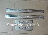 Светоотражающие полоски для авто ship! LiFan 320 LED Light door sill strip welcome pedal edge refires, 4pcs/set, tell me car full name+year