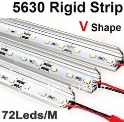 DC 12V 1M 72 5630 SMD Led Rigid Strip Light Lightbar&amp;Alluminium Shell DHL/EMS Freeship#R004(China (Mainland))