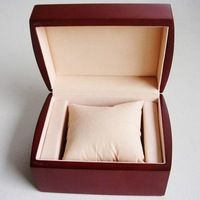 Free shipping Retail 12.3*10.2*6.8cm Mahogany Painting Wooden Watch Packaging Box Wristwatch Case