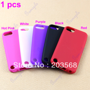 1pc Free Shipping ! New Silicone Skin Back Case Cover For Apple iPod Touch 5 5G