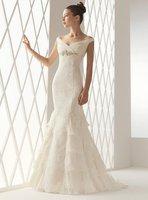 Strapless Sheath Bridal Dress Spagitte Lace Wedding Dress