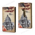 Eiffel Tower Postcard Design Leather Skin Case Cover Protector Guard for Nokia Lumia 920 free shipping