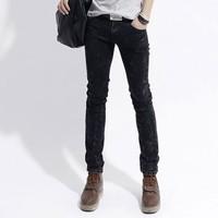 Coo SOO 2013new 1811-n02-p60 male Men slim water wash jeans straight black jeans