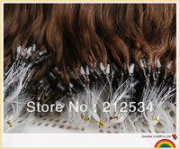 TOP   100G micro ring loop hair extensions100% Indian keratin  remy Human Hair 18''-24'' fast shipment!!!