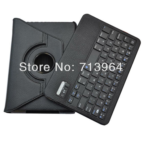 360 degree rotation stand Leather Case Wireless Bluetooth Keyboard case For iPad mini bluetooth 3.0 Free shipping(China (Mainland))