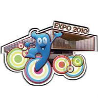 Freeshipping 2010 Shanghai World EXPO Exposition gift souvenir cute pattern HaiBao Hypol magnet sticker,fridge magnet P00609
